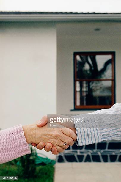 Shaking Hands During Business Deal