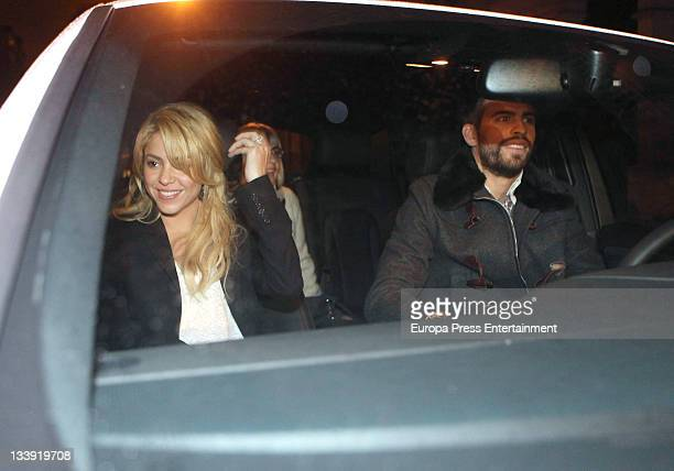 Shakira and Gerard Pique are seen on November 17 2011 in Barcelona Spain