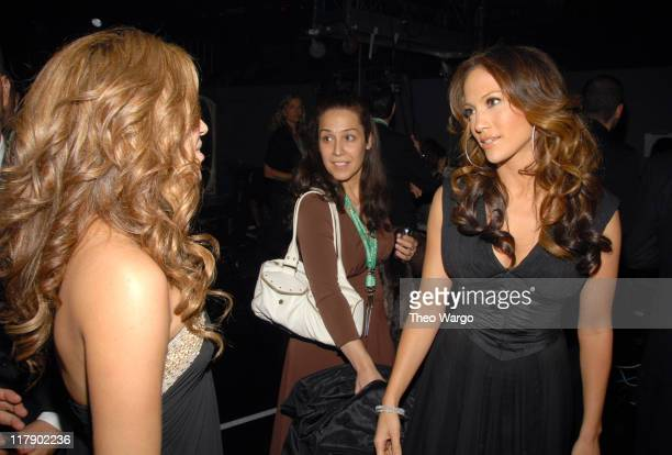 Shakira and Jennifer Lopez during The 7th Annual Latin GRAMMY Awards Backstage and Audience at Madison Square Garden in New York City New York United...