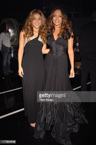 Shakira and Jennifer Lopez **Exclusive Coverage** during The 7th Annual Latin GRAMMY Awards Backstage and Audience at Madison Square Garden in New...