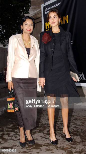 Shakira and Natasha Caine arriving at the Victoria Albert Museum in London for a reception celebrating of one of Britain's leading couturiers...