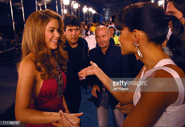 Shakira and Nelly Furtado during MTV Video Music Awards Latin America 2006 Red Carpet at Palacio de los Deportes in Mexico City Mexico