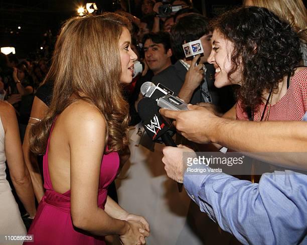 Shakira and press during MTV Video Music Awards Latin America 2006 - Red Carpet at Palacio de los Deportes in Mexico City, Mexico.