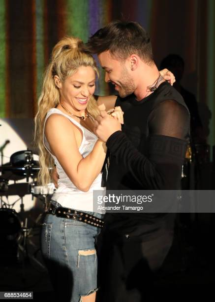 Shakira and Prince Royce are seen performing at her 'El Dorado' Album Release Party at The Temple House on May 25 2017 in Miami Florida