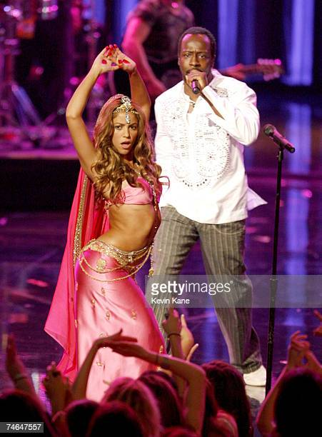 Shakira and Wyclef Jean perform Hips Don't Lie at the Radio City Music Hall in New York City New York