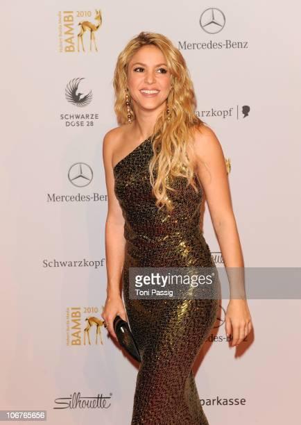 Shakira arrives for the Bambi 2010 Award at Filmpark Babelsberg on November 11, 2010 in Potsdam, Germany.