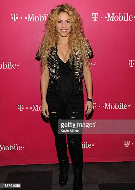 Shakira attends a special event for TMobile at Bryant Park on Wednesday October 9 2013 in New York City