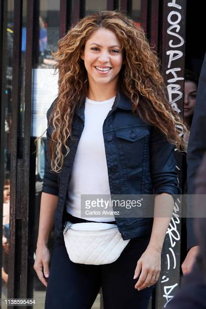 Shakira attends court for plagiarising the song 'La Bicicleta' on March 27 2019 in Madrid Spain