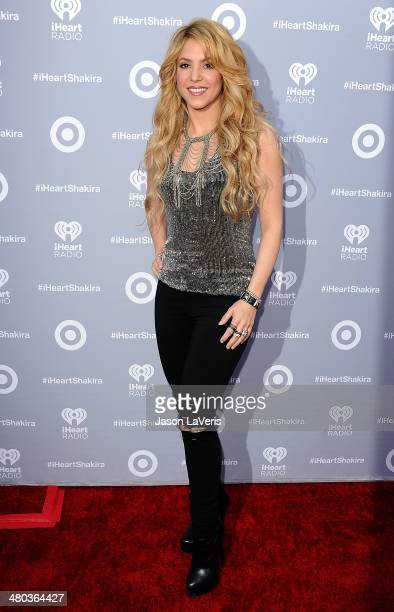 Shakira attends her album release party at iHeartRadio Theater on March 24 2014 in Burbank California