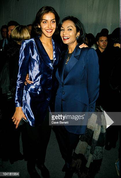 Shakira Caine and daughter Natasha Caine attend the Smirnoff Fashion Awards at the Business Design Center in November 1997 in London, England....