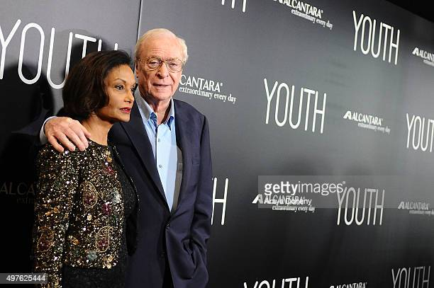 "Shakira Caine and Michael Caine attend the premiere of Fox Searchlight Pictures' ""Youth"" at DGA Theater on November 17, 2015 in Los Angeles,..."