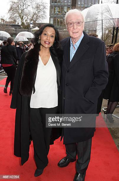 "Shakira Caine and Sir Michael Caine attend at a special screening of ""Interstellar Live"" at Royal Albert Hall on March 30, 2015 in London, England."