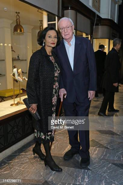 Shakira Caine and Sir Michael Caine attend the Burlington Arcade 200th anniversary dinner at Burlington Arcade on May 8, 2019 in London, England.