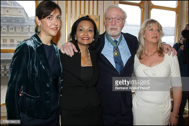Shakira Caine daughter Natasha Sir Michael Caine and daughter Dominique at Sir Michael Caine Is Honoured With The Title Commander Of Arts And Letters...