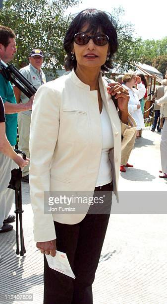 Shakira Caine during RHS Chelsea Flower Show 2004 at Royal Hospital, Chelsea in London, Great Britain.