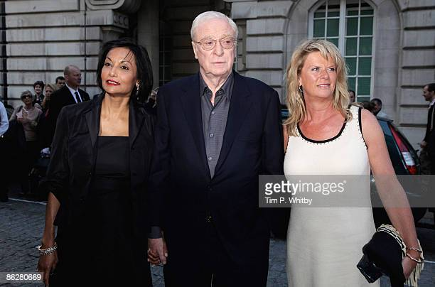 Shakira Caine Michael Caine and Dominique Caine arrive for the premiere of Is Anybody There at the Curzon Mayfair cinema on April 29 2009 in London...