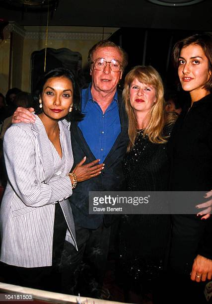 Shakira Caine, Michael Caine, Dominique Caine and Natasha Caine attend Michael Caine's 54th Birthday Party at The Canteen on March 14, 1996 in...