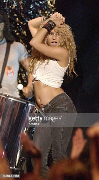 Shakira during 2002 MTV Video Music Awards Rehearsals Day 2 at Radio City Music Hall in New York City New York United States