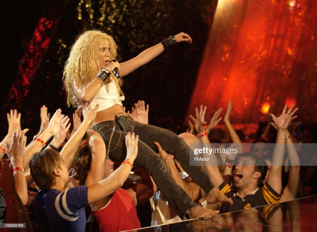 Shakira during 2002 MTV Video Music Awards - Rehearsals - Day 2 at Radio City Music Hall in New York City, New York, United States.