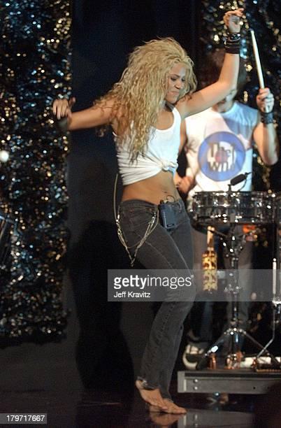 Shakira during 2002 MTV Video Music Awards RehearsalsDay 2 at Radio City Music Hall in New York City New York United States
