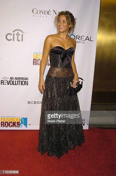 Shakira during 2005 Fashion Rocks Red Carpet at Radio City Music Hall in New York City New York United States