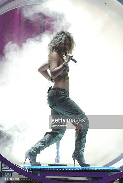 Shakira during 2005 MTV VMA Rehearsals Day 2 at American Airlines Arena in Miami Florida United States