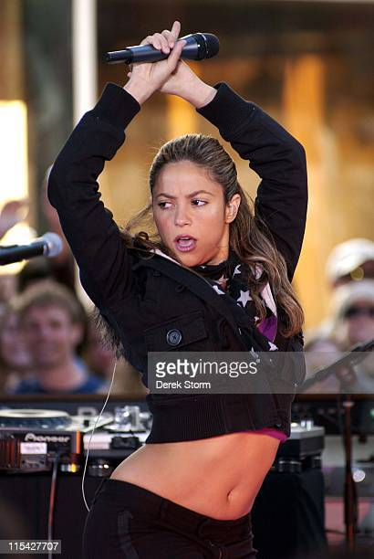 Shakira during Shakira with Wyclef Jean and Harry Connick Jr Appear on the 'Today Show' April 28 2006 at Today Show Studios in New York City New York...