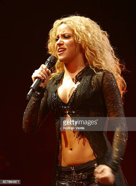 Shakira during Shakira's Tour of the Mongoose Miami at American Airlines Arena in Miami Fl United States