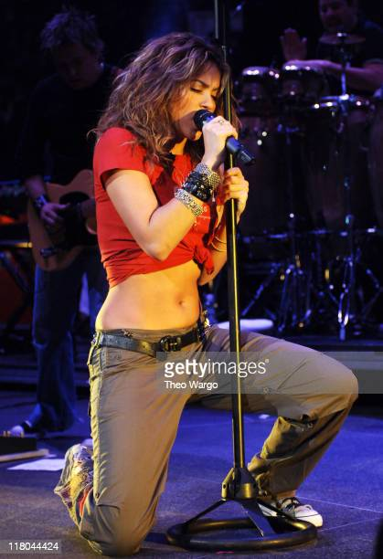 Shakira during Z100's Jingle Ball 2005 Show at Madison Square Garden in New York City New York United States