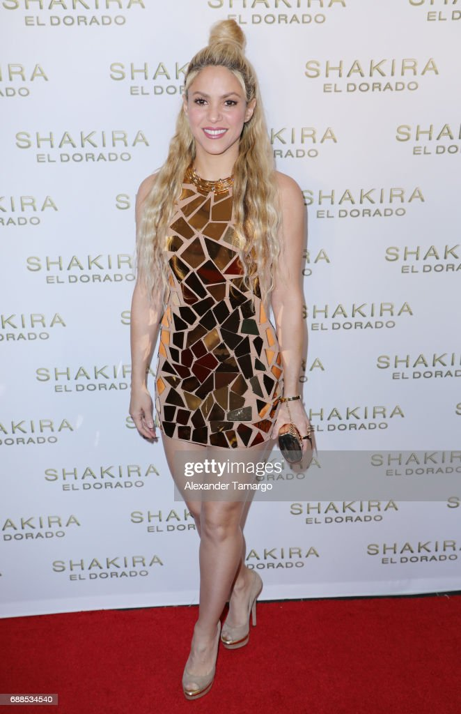 Shakira is seen at her 'El Dorado' Album Release Party at The Temple House on May 25, 2017 in Miami, Florida.