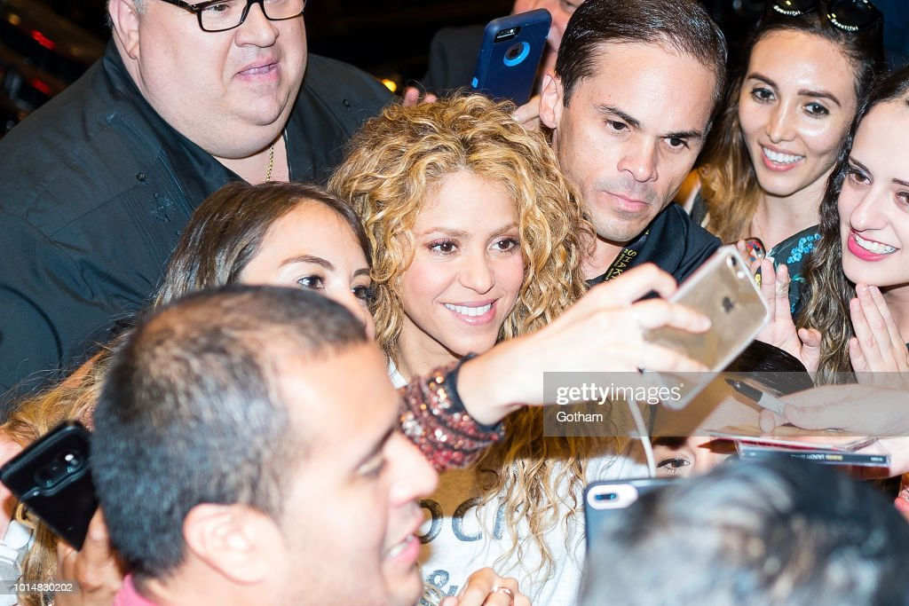 Shakira is seen in Midtown on August 10, 2018 in New York City.