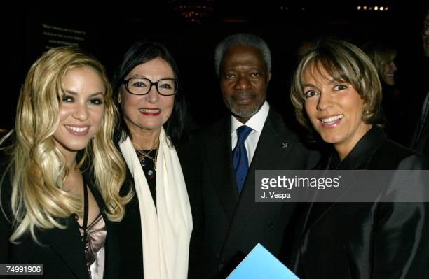 Shakira Nana Mouskouri Kofi Annan and Maria Emma Mejia
