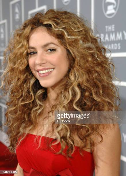 Shakira nominee Best Pop Collaboration With Vocals for Hips Don't Lie at the Staples Center in Los Angeles California