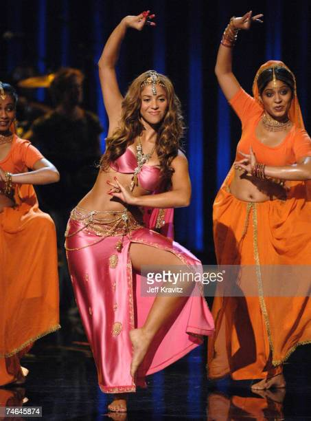 Shakira performing 'Hips Don't Lie' at the 2006 MTV Video Music Awards Show at Radio City Music Hall in New York City New York