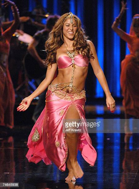 Shakira performing Hips Don't Lie at the 2006 MTV Video Music Awards Show at Radio City Music Hall in New York City New York