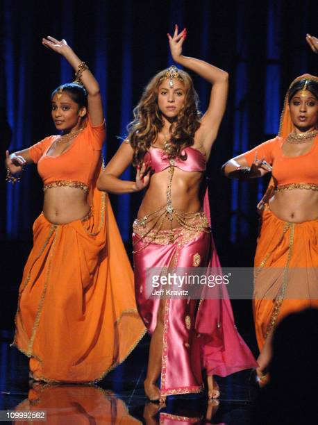 Shakira performing Hips Don't Lie during 2006 MTV Video Music Awards – Show at Radio City Music Hall in New York City New York United States
