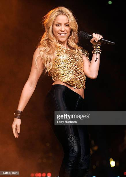 Shakira performs at Madison Square Garden on September 21, 2010 in New York, New York.