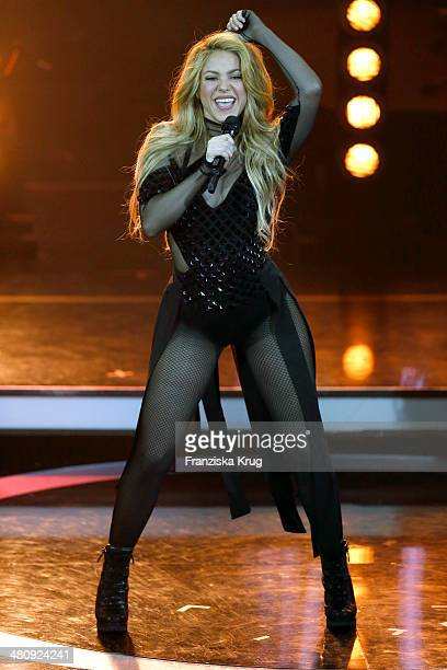 Shakira performs at the Echo Award 2014 show on March 27 2014 in Berlin Germany