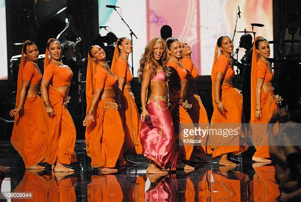Shakira performs Hips Don't Lie during 2006 MTV Video Music Awards Show at Radio City Music Hall in New York City New York United States