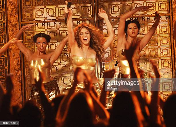 Shakira performs Hips Don't Lie during The 49th Annual GRAMMY Awards Show at Staples Center in Los Angeles California United States