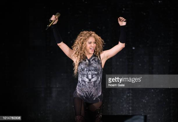 Shakira performs in concert at Madison Square Garden on August 10 2018 in New York City
