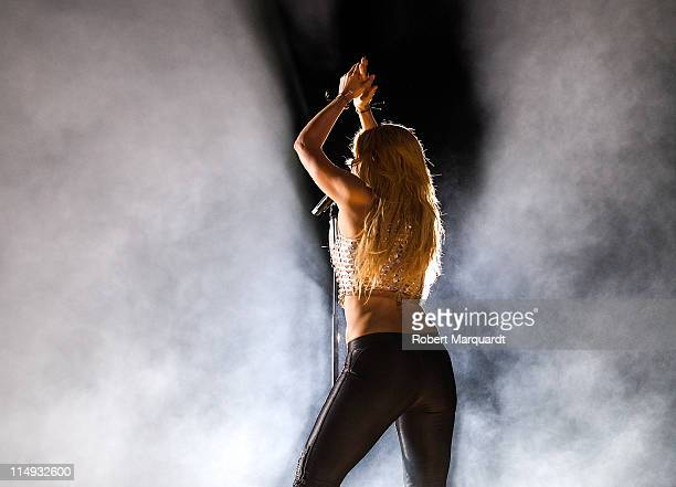 Shakira performs in concert at the Lluis Campanys Olympic Stadium on May 29 2011 in Barcelona Spain