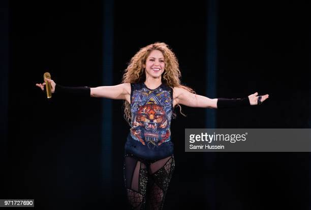 Shakira performs live at The O2 Arena on June 11 2018 in London England
