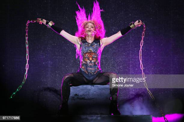 Shakira performs live on stage during the 'El Dorado World Tour' at The O2 Arena on June 11 2018 in London England