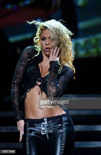 Shakira Performs on Stage at the Bullring of Las Ventas in Madrid as a part of the tour of the Mangoose