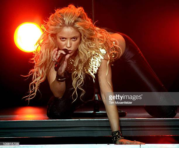 Shakira performs part of The Sun Comes Out World Tour at Arco Arena on October 19 2010 in Sacramento California