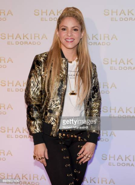 Shakira presents her new album 'El Dorado' at the Convent of Angels on June 8 2017 in Barcelona Spain
