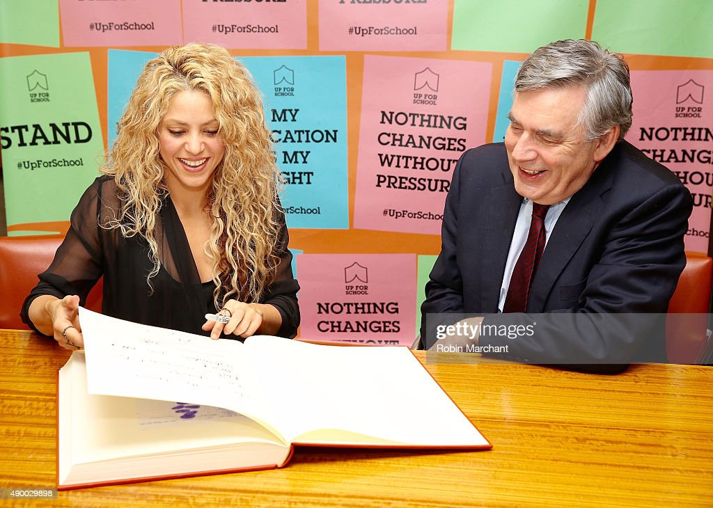 Shakira Supports #UpForSchool Education Petition : News Photo