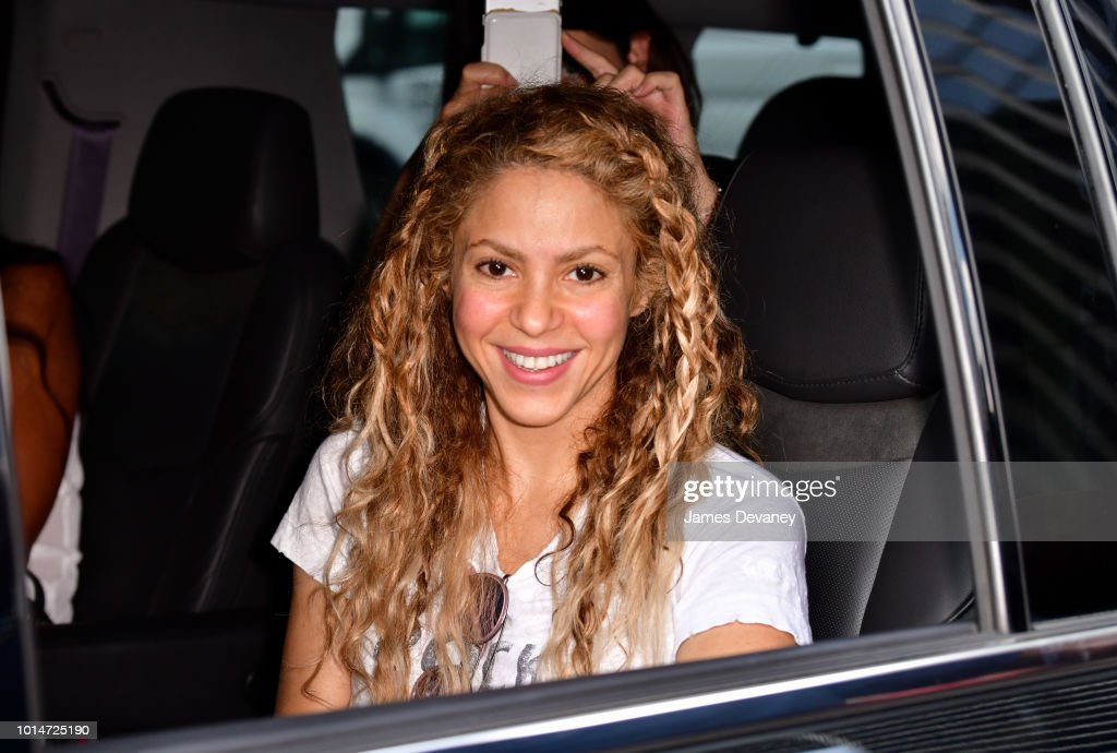 Shakira seen on the streets of Manhattan on August 10, 2018 in New York City.