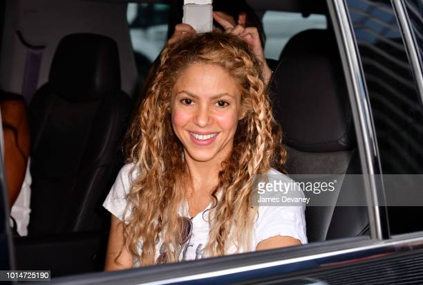 Shakira seen on the streets of Manhattan on August 10 2018 in New York City